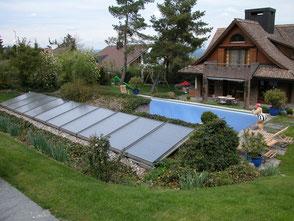 Schwimmbadwasser heizen mit Solarenergie
