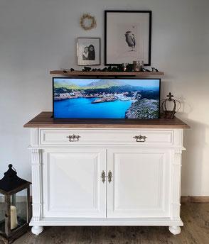 LiftUpLiving - Landhaus-Kommode mit integriertem TV-Schrank