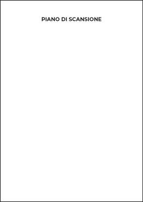 Piano di scansione formato A4 vuoto
