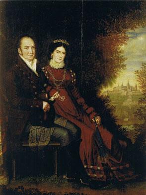 Die Eltern: König Max I. Joseph und Königin Caroline von Bayern