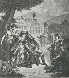 Max und Karoline umgeben von ihren Töchtern