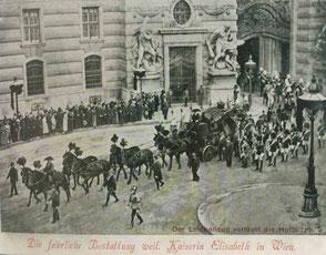 Der Leichenzug durch Wien