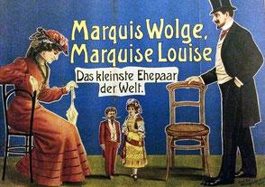 Werbeplakate für Schaugeschäfte auf der Wiesn
