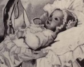 König Ludwig III. als Säugling