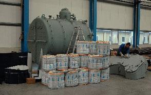 Montage der Rauchkammer, 16.12.2009. Fotos Andreas Westphalen