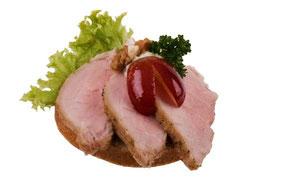 Cocktailhäppchen mit Schweinefilet von der Party-Küche Heuer