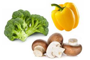 Brokkoli, Paprika, Champignons