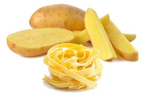 Kartoffel und Nudeln