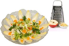 Blattsalat mit Obst aus der Party-Küche Heuer