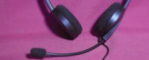 wir verwenden moderne Audiogeräte