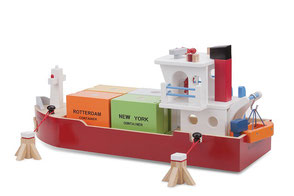 Dit is het Containerschip vanuit onze Havenlijn van New Classic Toys