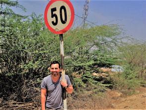 Ich, an meinem 50. Geburtstag in Indien