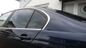 Tönungsfolie Sonnenschutzfolie BMW Seitenscheibe Fetzer Beschriftungen Aldingen Aixheim