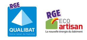 Label RGE reconnu par l'état pour des professionnels qualifiés et compétents pour bénéficier d'aides de l'état, de déduction fiscale, aide énergétique pour les travaux d'amélioration de l'efficacité énergétique de l'habitat.