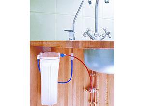 le filtre eau du robinet sous évier vous filtre chlore, métaux, bactérie, médicaments