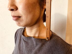 首の長さ測定