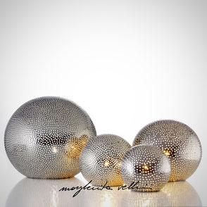 Sphere lamps BUCHINI precious metal Platinum 15% . Margherita Vellini Ceramics Made in Italy Home Lighting Design