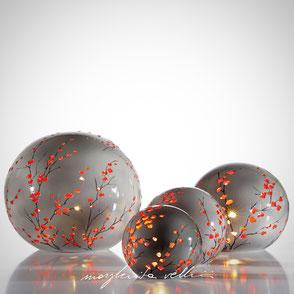 Lampade cubi da appoggio tagli RAMAGE dipinte a mano variante colore beige/celeste  Margherita Vellini Ceramica Made in Italy Home Lighting Design