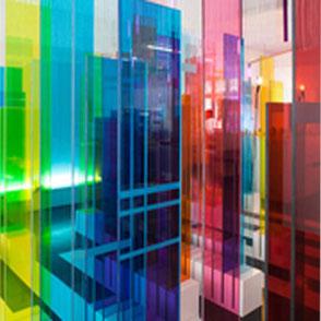 Farbiges Glas als ESG und VSG