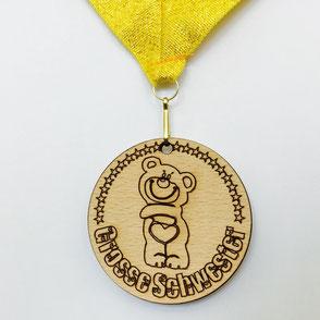 Medaille aus Holz