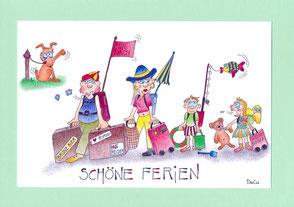 Sommerkafi Sool Gute Reise /Ferien Grusskarte