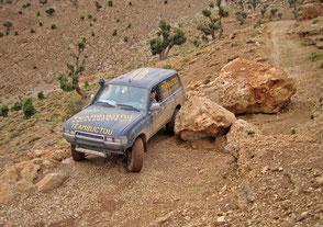 Piste im Hohen Atlas, Marokko Offroad-Reise