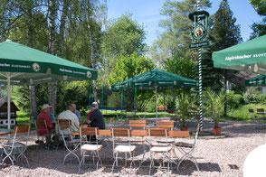 Biergarten am idylischen Heimbach, Natur pur