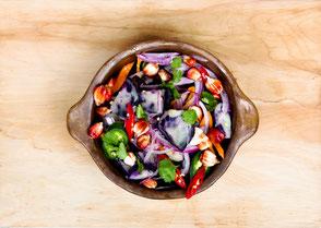 essen, Salat genießen in Kleve