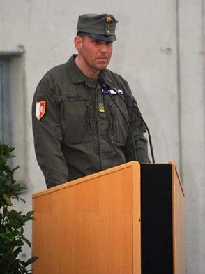 Bataillonskommandant Stabsbataillon 6 Oberstleutnant Ing. Peter Nuderscher