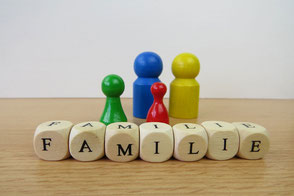 Familienaufstellung, Holzfiguren