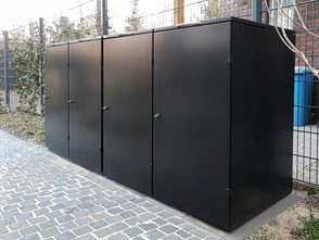 Mülltonnenbox Farbe RAL 9011