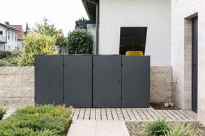 Mülltonnenbox Farbe DB 703 Metallic