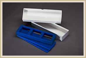 Dentabox mit Schaumstoffeinlagen für Rundumschutz