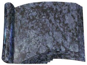 Liegestein-Schriftrolle-Orion Blue-Friedhof-Torgelow