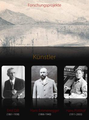 Forschungsprojekte Emil Dill - Hans Emmenegger - Hans Potthof | Verein ZugArt | Dr. Georg M. Hilbi