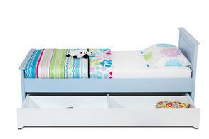 Jugendbett Kinderbett Einzelbett mit Bettschublade - Stauraum oder Gästebett