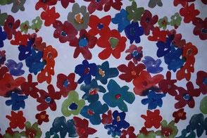 Muster-Blüten | Blau | Violett | Bordorot