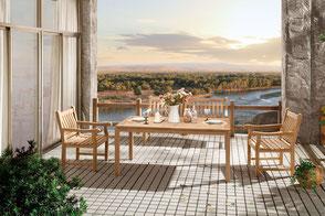 Barcello Gartensessel Indoor Sofalounge Loungemöbel Lounge Destiny Collection Teakholz Teak