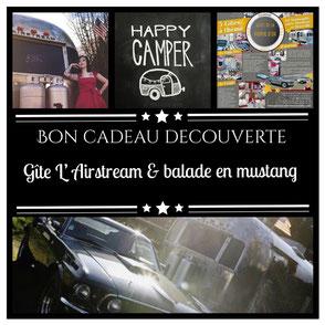Bon cadeau découverte pour le gite caravane Airstream en Normandie