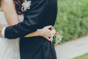 Der Blick, wenn der zukünftige Bräutigam seine Braut sieht ist immer ein besonderer Moment