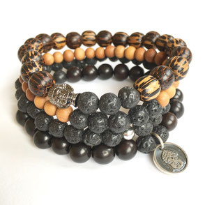 Clarity + Strength Men's Mala Bracelets