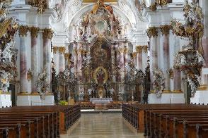 Münster Zwiefalten, Barocke Kirche, Oberschwäbische Barockstraße, Zwiefalten, Ferienwohnung Haus im Gässle