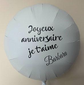 Ballons gonflés personnalisables