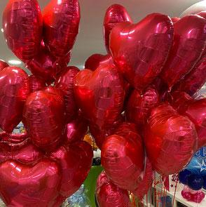 Ballons alus gonflés unis