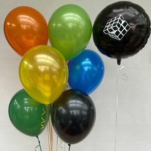 Ballons latex gonflés nacrés