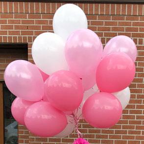 Ballons latex gonflés opaques