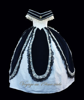 location costumes historiques robe de Bal fete de Napoleon III Vichy