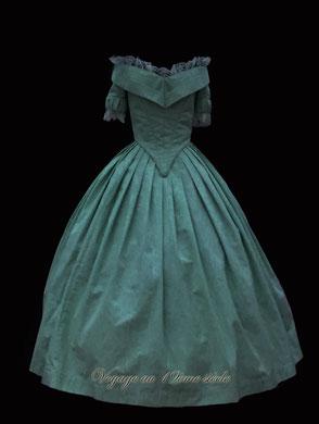 location robe de bal romantisme 1848