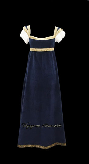 Location costumes historiques robe de Bal Premier Empire Bordeaux Paris