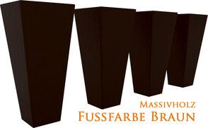 Supellex Ohrensessel.com Fußfarbe Kolonial-Braun dunkelbraun Massivholz Ohrensessel Fuß